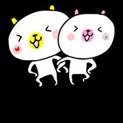 สติ๊กเกอร์ไลน์ White Bears & Meow