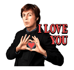 Chat with Paul McCartney sticker #5286101