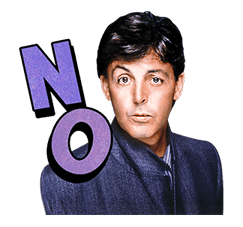 Chat with Paul McCartney sticker #5286103