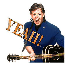 Chat with Paul McCartney sticker #5286110