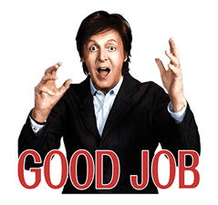 Chat with Paul McCartney sticker #5286115