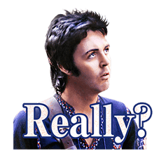 Chat with Paul McCartney sticker #5286117