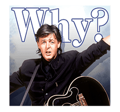 Chat with Paul McCartney sticker #5286121