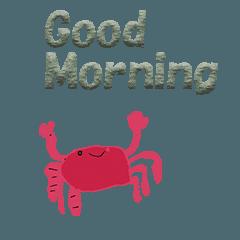 สติ๊กเกอร์ไลน์ Polite crab English