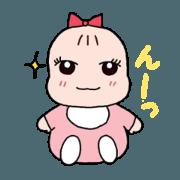 สติ๊กเกอร์ไลน์ Cute Baby&Stars