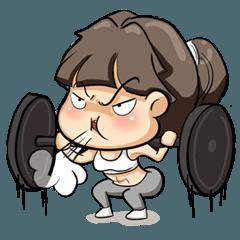 สติ๊กเกอร์ไลน์ Fitness Girl's Life