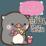 สติ๊กเกอร์ไลน์ PALMY หมูหมู ตัวอ้วน e