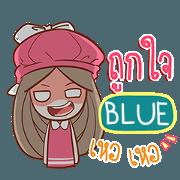 สติ๊กเกอร์ไลน์ BLUE นุ้งเนล e