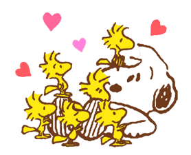 SNOOPY & Woodstock sticker #5436844