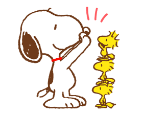 SNOOPY & Woodstock sticker #5436847