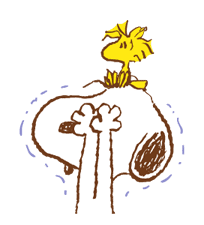 SNOOPY & Woodstock sticker #5436850
