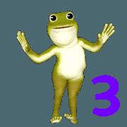 สติ๊กเกอร์ไลน์ กบเคลื่อนไหว 3 (โลก)