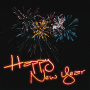 สติ๊กเกอร์ไลน์ new Year+Congratulations=Fireworks (en)