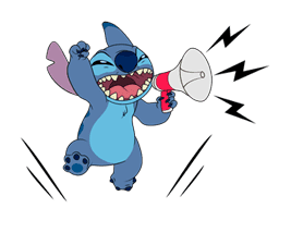 Stitch on the Move sticker #6111538