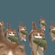 สติ๊กเกอร์ไลน์ Cat Sticker Moveing No:1