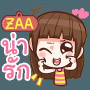สติ๊กเกอร์ไลน์ ZAA หนูแบ๊วตากลม e