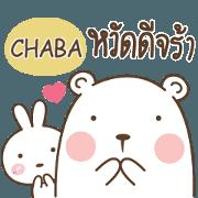 สติ๊กเกอร์ไลน์ CHABA พี่หมี กับ น้องต่าย e