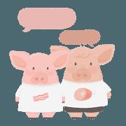 สติ๊กเกอร์ไลน์ Bacon daily life