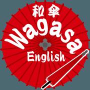 สติ๊กเกอร์ไลน์ Wagasa vol.2(English)