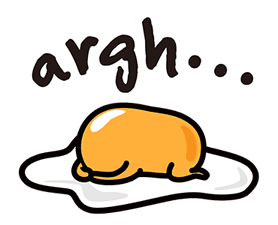 gudetama sticker #7115176