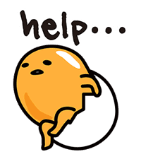 gudetama sticker #7115192