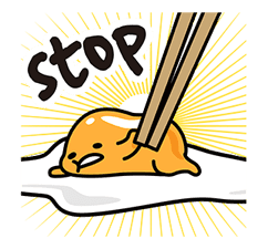 gudetama sticker #7115194
