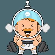 สติ๊กเกอร์ไลน์ Cosmonaut Adventures
