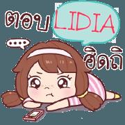 สติ๊กเกอร์ไลน์ LIDIA หนูดี นกจริงๆ_S e