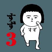 สติ๊กเกอร์ไลน์ Suzu is moving3.Name sticker.