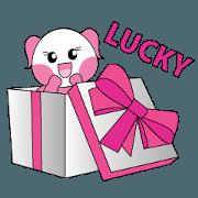 สติ๊กเกอร์ไลน์ kiyomi pink panda