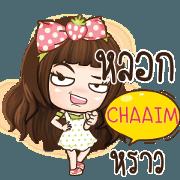 สติ๊กเกอร์ไลน์ CHAAIM วีโอเล็ท_S e