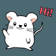สติ๊กเกอร์ไลน์ Macey The Fat Mouse