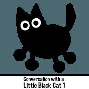 สติ๊กเกอร์ไลน์ Conversation with a Little Black Cat 1