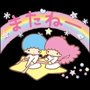 สติ๊กเกอร์ไลน์ Little Twin Stars: สติ๊กเกอร์ระยิบระยับ