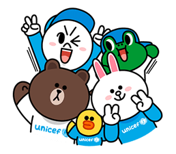 LINE X UNICEF: Special Edition sticker #7619264