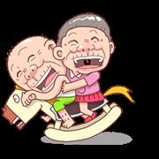 สติ๊กเกอร์ไลน์ Taiwan Agon and Ama