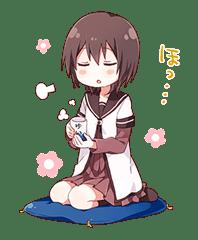 YURU-YURI sticker #8031427