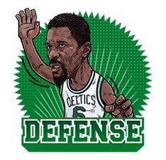 NBA Legends sticker #8693355