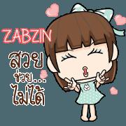 สติ๊กเกอร์ไลน์ ZABZIN ผิดที่เกิดมาสวย 2 e