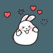 สติ๊กเกอร์ไลน์ mochi cute rabbit