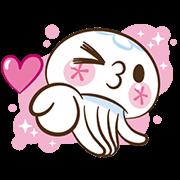สติ๊กเกอร์ไลน์ Clara the Jellyfish ดุ๊กดิ๊กกุ๊กกิ๊ก