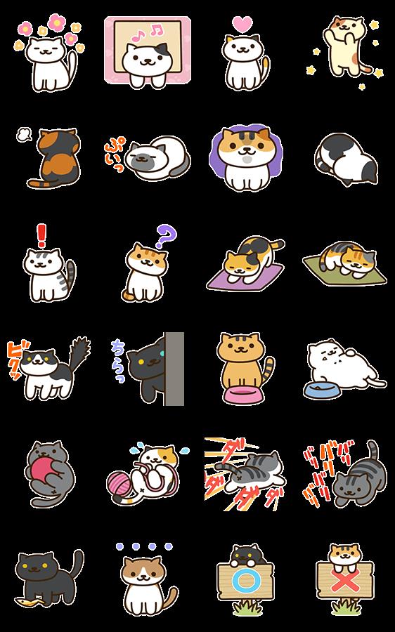 สติ๊กเกอร์ไลน์ Nekoatsume♪ รวมแมวดุ๊กดิ๊ก
