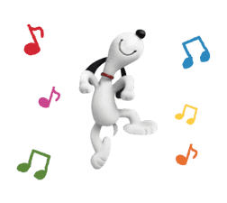 SNOOPY-THE PEANUTS MOVIE- sticker #9104084