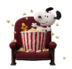 SNOOPY-THE PEANUTS MOVIE- sticker #9104092