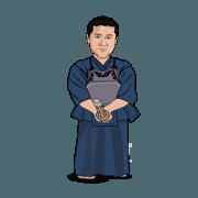 สติ๊กเกอร์ไลน์ kendo sensei taro