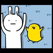 สติ๊กเกอร์ไลน์ Lazy Rabbit & Mr.Chu 3