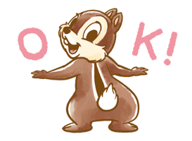 Chip 'n' Dale Fluffy Moves sticker #9381705