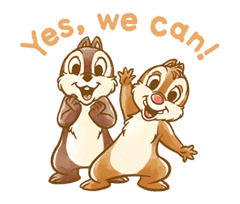 Chip 'n' Dale Fluffy Moves sticker #9381716