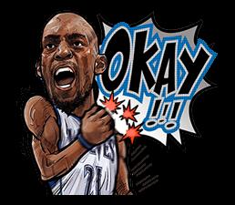 NBA Superstars sticker #9573273