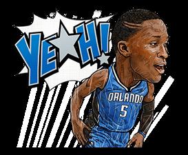 NBA Superstars sticker #9573276